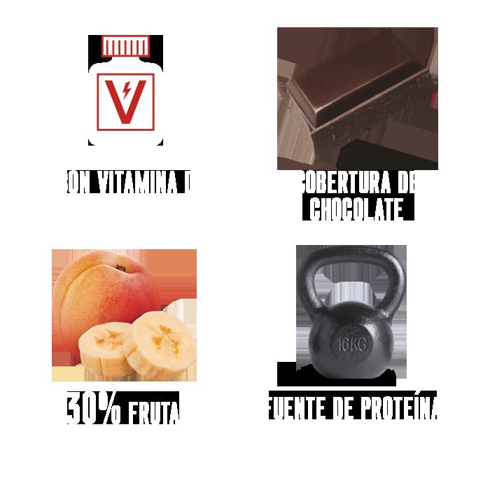 Barrita energetica fruta y chocolate just loading