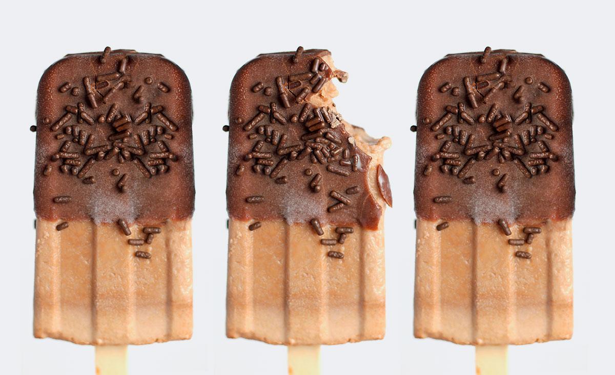 helado de crema de cacahuete y coco